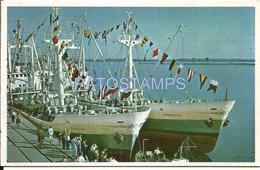 66113 PARAGUAY ASUNCION SHIP BARCOS DE LA FLOTA MERCANTE POSTAL POSTCARD - Paraguay