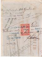 Suisse Mandat à Ordre De 1864 Avec Timbre De Commerce15 Centimes émission De FRIBOURG.Non Dentelé .Complet - Fiscaux