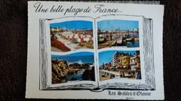 CPSM LES SABLES D OLONNE VENDEE UNE BELLE PLAGE DE FRANCE  A LIVRE OUVERT MULTI VUES CIM - Sables D'Olonne