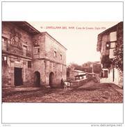 CTBATP4929CPA-LFTD10165T.Tarjeta Postal De CANTABRIA.Edificios.,calles,animales.CASA DE COSSIO En SANTILLANA DEL MAR - Burros