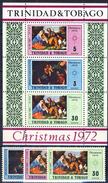 #H703. Trinidad & Tobago 1972. Christmas. Paintings. 3 Items + Bloc. Michel 311-13 + Block 6. MNH(**)