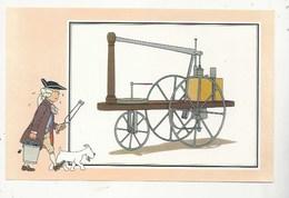 CHEQUE TINTIN - HERGE - VOIR ET SAVOIR - AUTOMOBILE - VOITURE VAPEUR MURDOCK 1784 - ORIGINE À 1900 - SERIE 2 - N° 4 - Bandes Dessinées