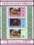 #H704. Trinidad & Tobago 1972. Christmas. Paintings. Bloc. Michel 6. MNH(**)