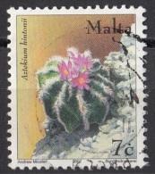 1088 Malta 2002 Flowers Fiori Di Piante Grasse Aztekium Hintonii Viaggiato Used