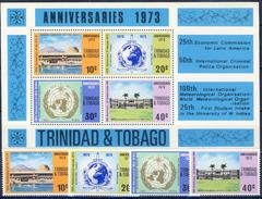 #Q1224. Trinidad & Tobago 1972. Anniversaries. Michel 314-17 + Block 7. MNH(**)