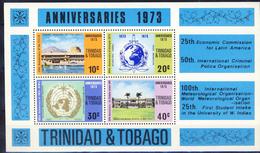 #O519. Trinidad & Tobago 1972. Anniversaries. Michel Block 7. MNH(**)