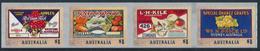 AUSTRALIA 2016 Nostalgic Fruit Labels, Pemara Adh. Set Of 4v** - 2010-... Elizabeth II