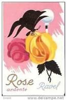 VINTAGE PERFUME FRENCH LABEL - RAVEL ´´ ROSE ARDENTE   ´´ - Etiquettes