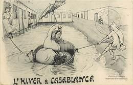 Pays Div- Ref G850-maroc - Dessin Illustrateur Robert Birké - L Hiver A Casablanca - Carte Bon Etat  - - Casablanca