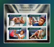 MALDIVES 2016 - Muhammad Ali. Official Issue