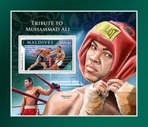MALDIVES 2016 - Muhammad Ali S/S Official Issue
