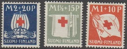 Finlande 1930 N° 156-158 NMH Croix Rouge  (D32)