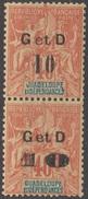 Guadeloupe 1903 N° 46c Et D NMH En Paire   (D31) - Guadalupe (1884-1947)