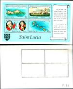86735)  ST-LUCIA -1982 Bicent. DELLA BATTAGLIA DEI SANTI  -MNH - VEDI FOTO