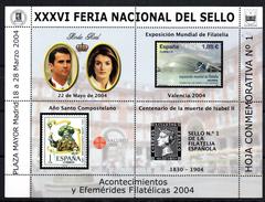 Serie Nº 1/6  Hojas Commemorativas Feria Nacional Del Sello. - España