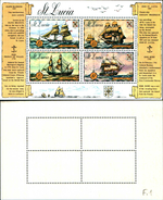 86736)   Saint Lucia 1973 NAVI STORICO Set Sg.352-355- BF--MNH - VEDI FOTO