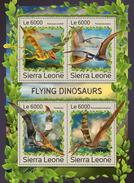 SIERRA LEONE 2016 - Flying Dinosaurs. Official Issue. - Prehistorisch