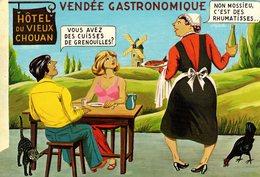 C.P.S.M. Vendée Gastronomique - Hôtel Du Vieux Chouan - Cuisses De Grenouilles & Rhumatismes - Humour