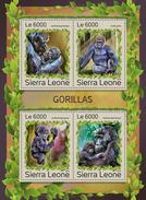 SIERRA LEONE 2016 - Gorillas. Official Issue.