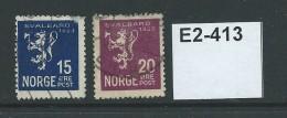 Norway 1925 Annexation Of Spitzbergen. 15ö And 20ö