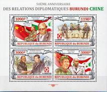 Burundi MNH Chinese Leaders Sheetlet And SS - Mao Tse-Tung