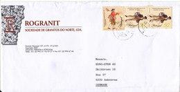 Portugal Cover Sent To Denmark Matosinhos 22-5-2001 - Cartas