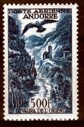 Andorra (French Adm.), AIRMAIL, La Valira De L'Orient, 500f., 1955, MNH VF - Correo Aéreo