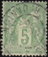 FRANCE - Scott #105 Peace & Commerce (*) / Used Stamp - 1876-1878 Sage (Type I)
