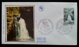 FDC 1973 - YT N°1764 - LE SAUT DU DOUBS - VILLERS LE LAC - 1970-1979