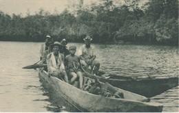 POSTAL DE GUINEA DE UNA FAMILIA NAVEGANDO EN EL RIO KONGÜE (PUBLICACIONES PATRIOTICAS) EXPO IBERO-AMERICANA SEVILLA 1929 - Guinea Ecuatorial