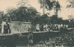 POSTAL DE GUINEA ESPAÑOLA EXPLOTACION FORESTAL BROS Y COMP (PUBLICACIONES PATRIOTICAS) EXPO IBERO-AMERICANA SEVILLA 1929 - Guinea Ecuatorial
