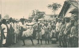 POSTAL DE GUINEA ESPAÑOLA DE ESAMBIRAS EN SU BAILE TIPICO (PUBLICACIONES PATRIOTICAS) EXPO IBERO-AMERICANA SEVILLA 1929 - Guinea Ecuatorial
