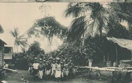 POSTAL DE GUINEA ESPAÑOLA DE POBLADO BUBI EN LAS INMEDIACIONES DE SAN CARLOS (EXPO IBERO-AMERICANA SEVILLA 1929) - Guinea Ecuatorial