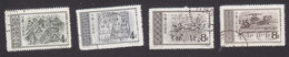 PRC, Scott #295-298, Used, Murals Tung Han Dynasty, Issued 1956 - Usados