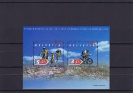 2004 Sonderblock  Veloland Schweiz Mi. Bl. 35 - Blocs & Feuillets