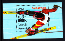 Laos MNH 1988 #848 95k Slalom Skiing 1988 Winter Olympics - Laos