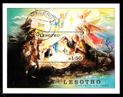 Lesotho Used 1980 #318 1.50m Nativity Scene Christmas - Lesotho (1966-...)