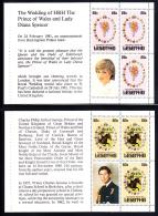 Lesotho MNH 1981 #335a, #336a, #337b-c Charles And Diana Royal Wedding - Lesotho (1966-...)