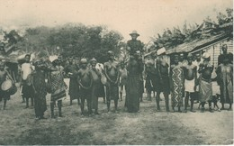POSTAL DE GUINEA ESPAÑOLA KÚKUMAN DE MISERGUE Y SUS MUJERES (EXPO IBERO-AMERICANA SEVILLA 1929) - Guinea Ecuatorial