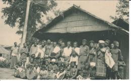 POSTAL DE GUINEA ESPAÑOLA DE UN POBLADO PROXIMO A LOS RAPIDOS DE YOBE (EXPO IBERO-AMERICANA SEVILLA 1929) - Guinea Ecuatorial