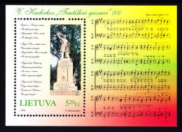 Lithuania MNH 1998 #595 Centenary National Anthem - Lituanie