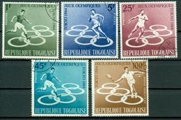BM Togo 1964   MiNr 435-439 A   Used   Olympische Sommerspiele, Tokio - Togo (1960-...)