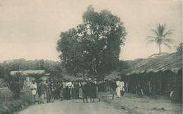 POSTAL DE GUINEA ESPAÑOLA DEL POBLADO ASSOBLA (EXPO IBERO-AMERICANA SEVILLA 1929) - Guinea Ecuatorial