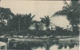 POSTAL DE GUINEA ESPAÑOLA DEL EMBARCADERO EN ELOKEY (EXPO IBERO-AMERICANA SEVILLA 1929) - Guinea Ecuatorial