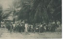 POSTAL DE GUINEA ESPAÑOLA DEL MERCADO INDIGENA EN BATA (EXPO IBERO-AMERICANA SEVILLA 1929) - Guinea Ecuatorial