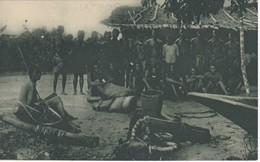 POSTAL DE GUINEA ESPAÑOLA DE INDIGENAS DE UN POBLADO BALENGUE (EXPO IBERO-AMERICANA SEVILLA 1929) - Guinea Ecuatorial
