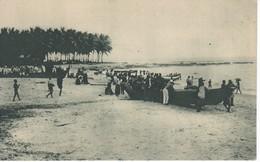 POSTAL DE GUINEA ESPAÑOLA DEL EMBARCADERO EN RIO BENITO  (EXPO IBERO-AMERICANA SEVILLA 1929) - Guinea Ecuatorial