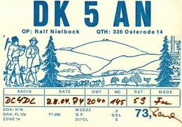 Carte Radio Libre DC4DL - 1974 - DK 5 AN - Ralf Nielbock - QTH : 336 Osterode 14 - Publicités