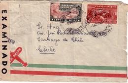 MEXIQUE - LETTRE POUR LE CHILIE - BANDE DE CENSURE MEXICO - LE 23-11-1932. - Mexique