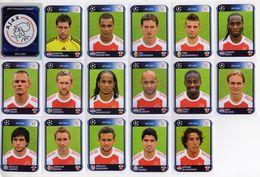 FOOT STICKERS PANINI UEFA CHAMPIONS LEAGUE 2010/11 N°447 à 463 AFC AJAX AMSTERDAM EQUIPE COMPLETE 17 STICKERS - Panini
